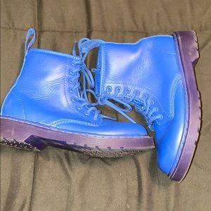 Dr. Martens Delaney Blue Used Girls US 1 boots